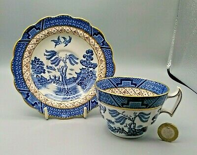 Vintage Booths Real Old Willow A8025 Blue & White Tea Cup & Saucer • 7.99£