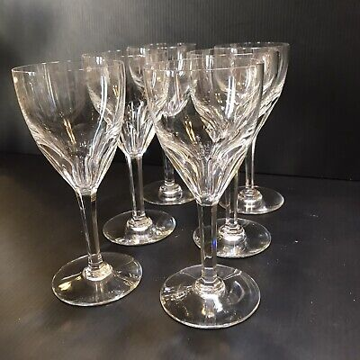 BACCARAT Crystal GENOVA CLEAR CLARET WINE GOBLET Or GLASS 6-1/2  - Set Of 6 EUC • 310.87£