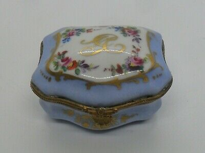 French Le Tallec Limoges Porcelain Hand Painted And Gilded Hinged Box. • 10£