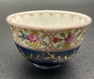 Rare Antique Early To Mid 18thC Meissen Porcelain Teabowl - Crossed Swords • 16£