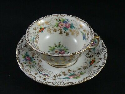 A Lovely Antique Hard Paste Large Porcelain Cup & Saucer  • 24.95£
