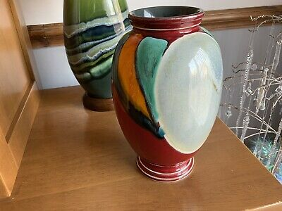 Very Large Poole Pottery Vase Aurora Living Glaze  9 / 12 Inch Tall • 25£