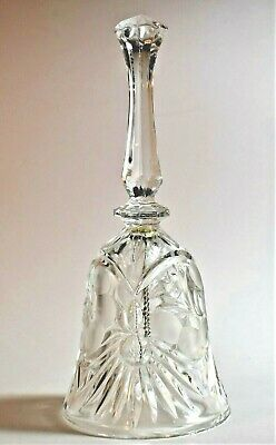 Vintage Crystal Cut Glass Bell 21cm Long - Nice Ring Tone • 1£