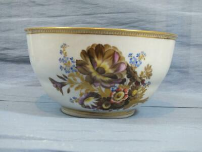18c GERMAN MEISSEN MARCOLINI GOLD FLORAL PATTERN SMALL FRUIT BOWL C1790 • 29.95£