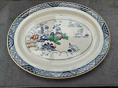 Antique Booths Turkey Platter Meat Carving Serving Plate Netherlands Design 38cm • 7.99£
