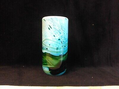Small But Beautiful Studio Art Glass Vase. Could Be Gozo Glass. • 8£