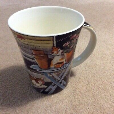 Queens Cat Fine China Mug At The Shed Design By Alex Clark New • 9.99£