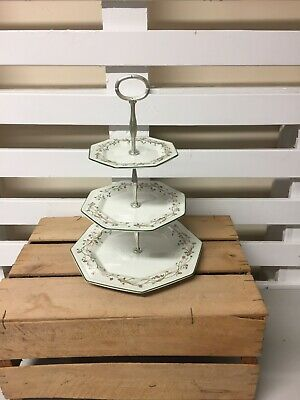 Pretty 3 Tier Johnson Bros Eternal Beau Cake Stand  • 16£