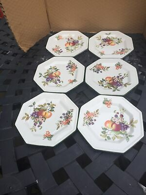 "Johnson Brothers Fresh Fruit 7.75"" Plates X 6 Excellent Condition  • 10£"