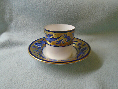 Art Deco  Shelley Cup And Saucer Gilded With Blue Swallows • 15£