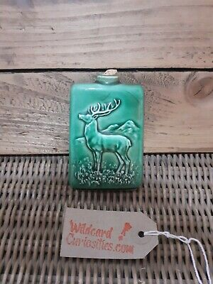 1969 Beswick Beneagles Red Deer Scotch Whisky Flask • 20£