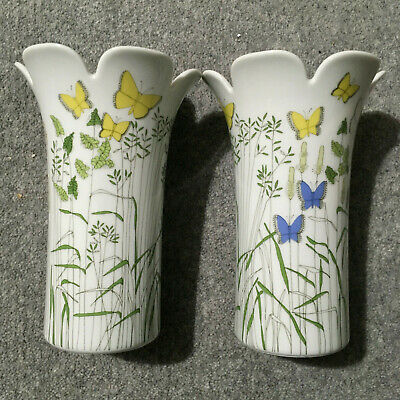 Thomas Germany 2 Butterfly Vases • 9.99£
