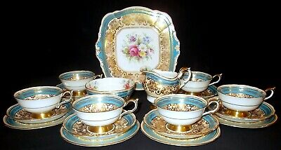 Paragon China Handpainted Floral And Gilded 21 Piece Tea Set - Pattern A1178/3 • 295£
