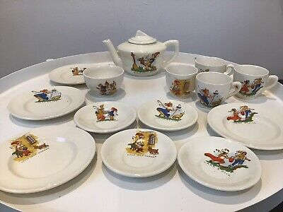 Vintage Dolls Children's Nursery Rhyme China Tea Set 1930s Large 50s Toy • 39.99£