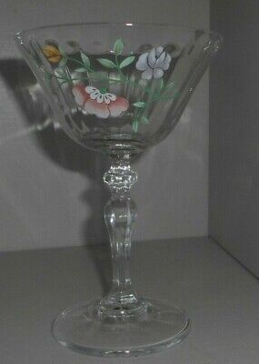 Johnson Bros Summer Chintz Sundae / / Champagne Wine Glass 6 Avail • 5.50£
