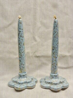Rare 1950s Wade Everlasting Candles In Stands Blue Gold Ceramic Dining Table Old • 15.99£