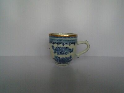 Antique 18th C Porcelain Blue & White Coffee Cup Possibly Chinese • 4.99£