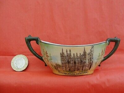 Vintage Gemma Crested Ware Peterborough Cathedral As A Queen Anne Dish. VGC • 3.45£