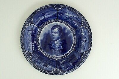 The Blue Room. S Hancock & Sons Decorative Wall Plate - Burns - Early 1900s • 18.50£