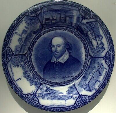 The Blue Room. S Hancock & Sons Decorative Wall Plate - Shakespeare- Early 1900s • 20.50£