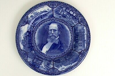 The Blue Room. S Hancock & Sons Decorative Wall Plate - Dickens - Early 1900s • 20£