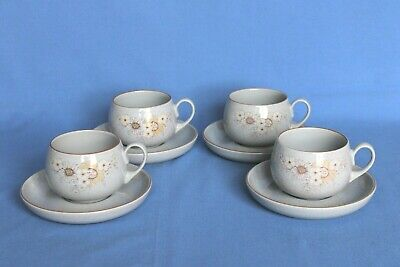 Denby  Reflections  Stoneware Cups & Saucers (x4) • 5.99£