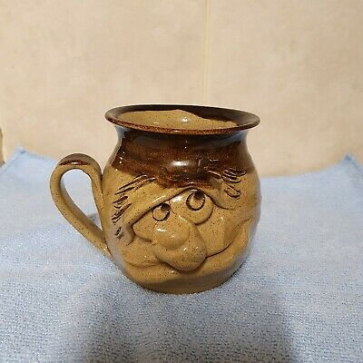 Pretty Ugly Pottery Mug, Made In Wales, Vintage, Excellent Condition • 7.50£