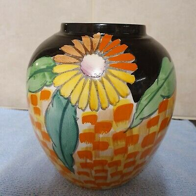 RARE Vintage Carlton Ware Hand Painted Flower Vase VERY GOOD CONDITION • 30£