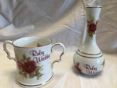 English Bone China Fenton China Company Mug And Vase  • 2.99£