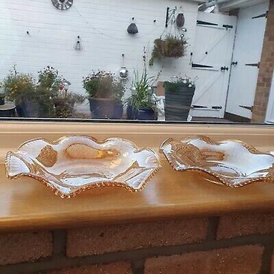 Vintage Pair Of Carnival Glass Bowls • 6£
