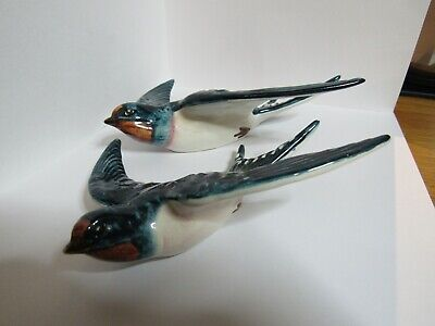 Two  Vintage Beswick Flying Swallows Wall Hanging • 40£
