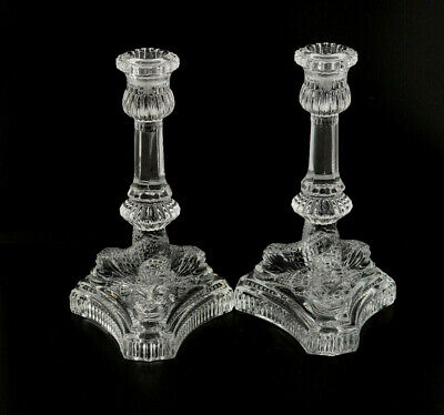 Tiffany & Co Crystal Dolphin Fish Set Of 2 Candle Holders • 109.72£