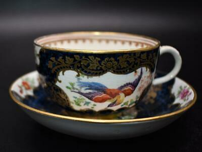 Antique Booths Dr Wall Style Blue Exotic Birds Cup & Saucer • 0.99£