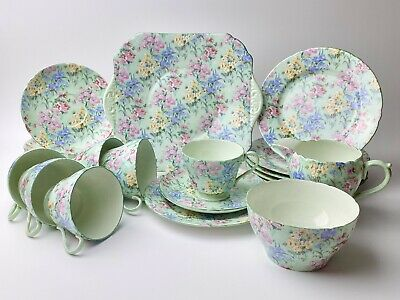 Shelley Melody 13453 21 Piece Teaset Mint Condition • 400£