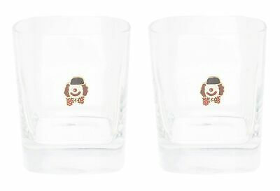 Clown Pair Of Crystal Tumblers WT Whiskey Glasses & Box Gift 78 • 32.99£