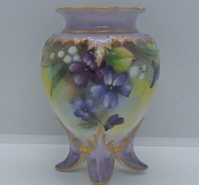 Royal Worcester Vase - Date Code 1897 - Decorated Violets & Lily Of The Valley. • 21.25£