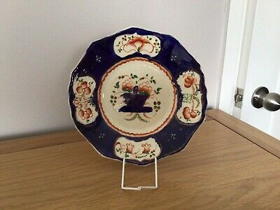 Large Gaudy Welsh 'Basket Of Flowers' Plate • 7.50£