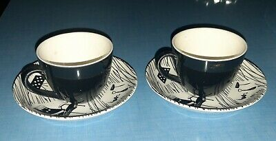 Ridgway Homemaker. Fine Bright Pair Of Coffee Cups. Perfect. • 30£