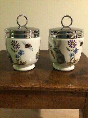 A Pair Of Royal Worcester Porcelain Egg  Coddlers -Skippety Tale ,good Cond. • 27.80£