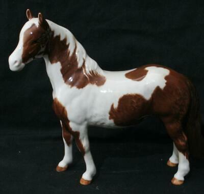 Beautiful Vintage Beswick Horse Figure Skewbald Brown White Pinto Pony 7 1/2  • 9.50£