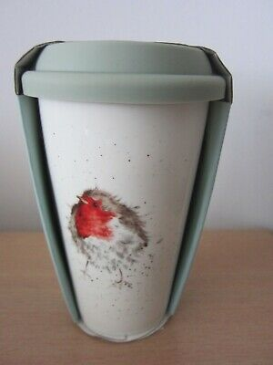 Royal Worcester Wrendale  Robin China Travel Mug - New In Packaging. • 10.95£