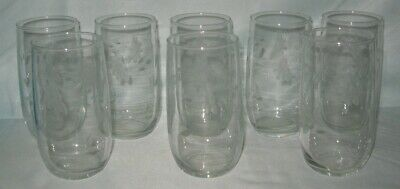 8 Floral With Vine Water Tumblers 12 Ounce • 12.80£