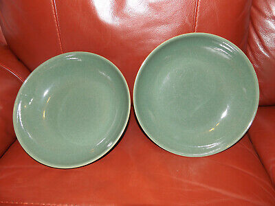 2 X Pasta Bowls Denby Calm  Cereal Dish Green • 19.99£
