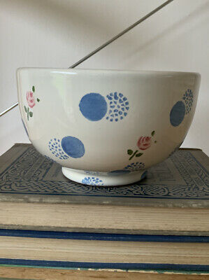 Laura Ashley Bowl Vintage Hand Crafted Ceramic Pottery Country Style White Chic • 8£