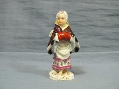 RARE Mid 20c GERMAN MEISSEN CHERUB PUTTI FIGURE DISGUISED AS YOUNG GIRL C1950 • 29.95£