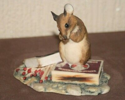 Rare Vintage Border Fine Arts Mouse On Match Box Nibbling Match, Ray Ayres 1982 • 25£