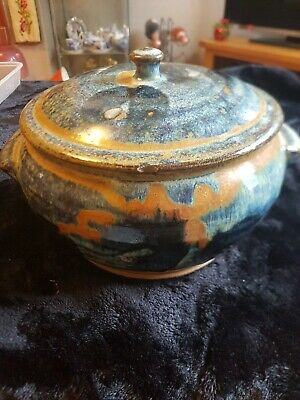 Multi Blue Hand Potted Cooking Pot • 25£
