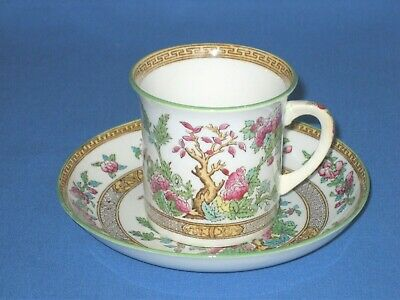 Antique Foley Art China Peacock Pottery  Indian Tree  Coffee Cup And Saucer • 4.99£