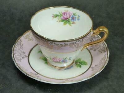 Tuscan China- Pink Rose- Tea Duo-richly Gilded • 3.99£
