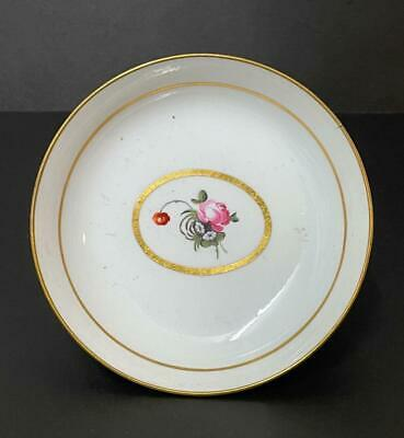 18th Century White Porcelain Hand Painted Tea Bowl/Saucer • 24.99£